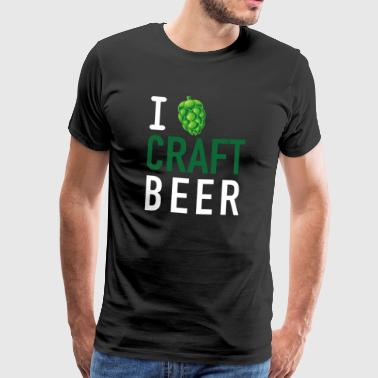 I love craft beer - Men's Premium T-Shirt