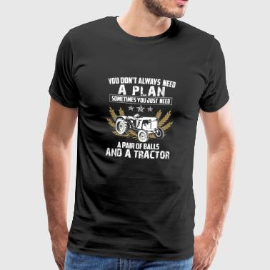 Tractor Shirt · Agriculture · Two Eggs Plan - Men's Premium T-Shirt