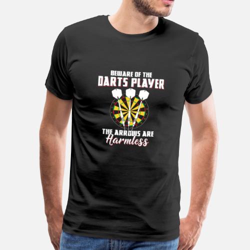 Onschadelijk Mannen Darts Premium Shirt · T Darten trdhsQxC