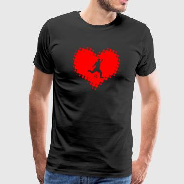 I Love Soccer - Ballsport Fitness Heart Ball - Men's Premium T-Shirt