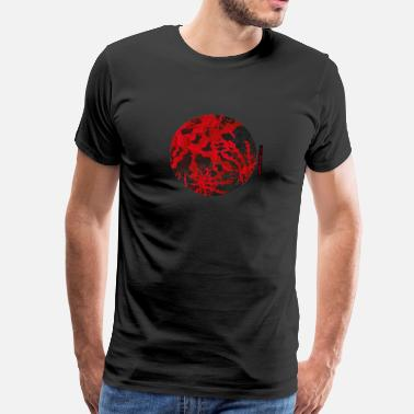 Creatie Abstract Red Circle - Mannen Premium T-shirt