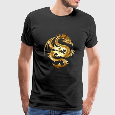Golden Dragon Chinese Dragon idee - Mannen Premium T-shirt