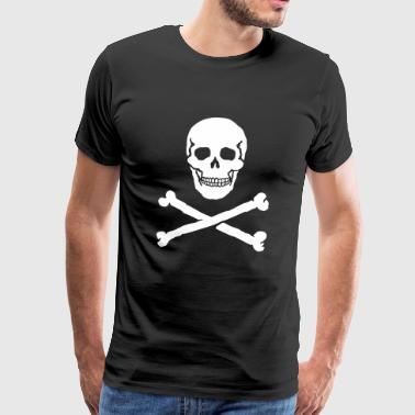 Skull and Crossbones / Jolly Roger - Men's Premium T-Shirt