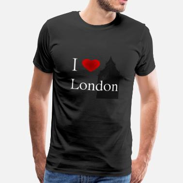 London Kids i love london white letters - Men's Premium T-Shirt