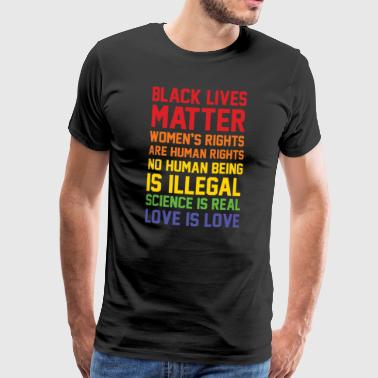 Black Lives Matter BLACK LIVES MATTER LIST SHIRT - Premium T-skjorte for menn