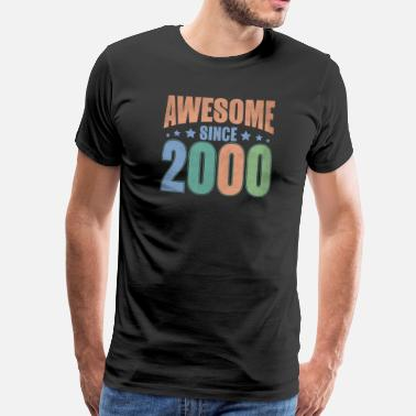 Since Awesome Since 2000 - Männer Premium T-Shirt