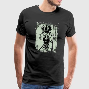 robo metal green - Men's Premium T-Shirt