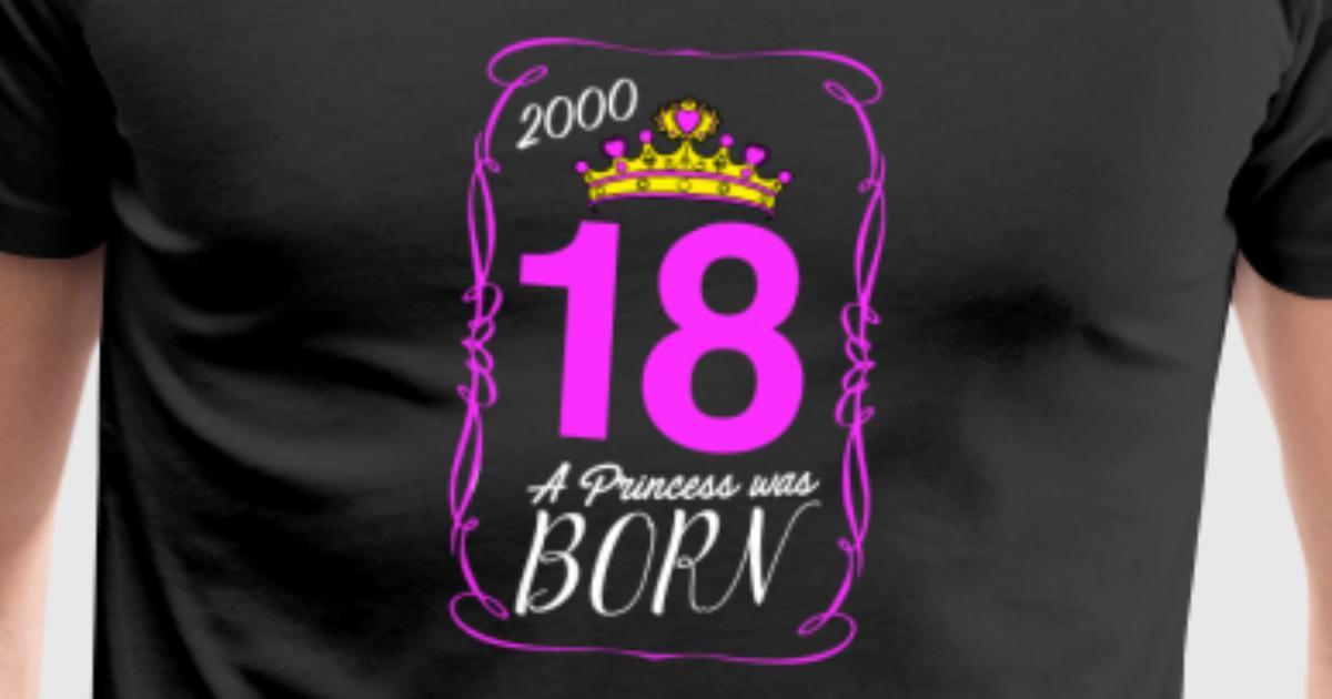 tee shirt 18e anniversaire cadeau ann e 2000 18 ans spreadshirt. Black Bedroom Furniture Sets. Home Design Ideas
