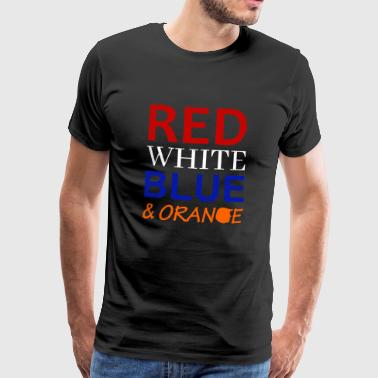 Rouge Blanc Bleu et Orange - T-shirt Premium Homme