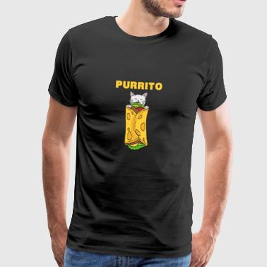 Cats / Texaanse food / Word Games: purrito - Mannen Premium T-shirt