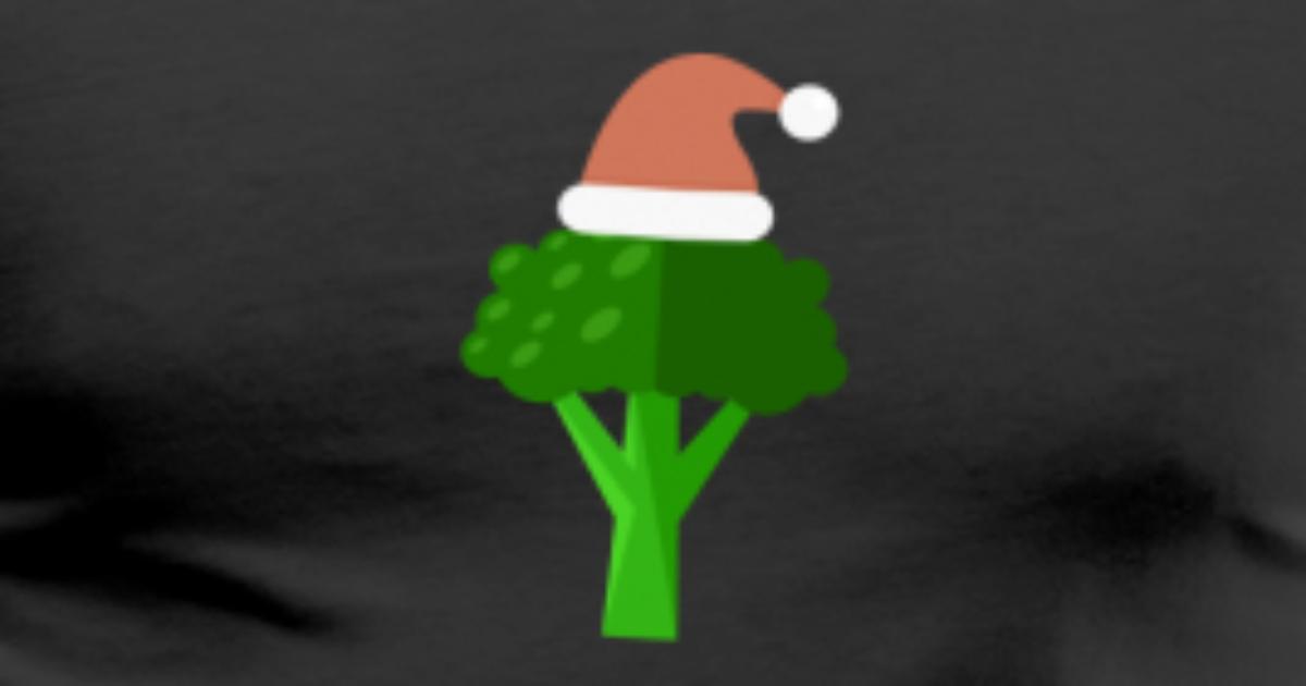 Weihnachtsbrokkoli-Sankt-Hut kühles vegetarisches Weihnachten von ...