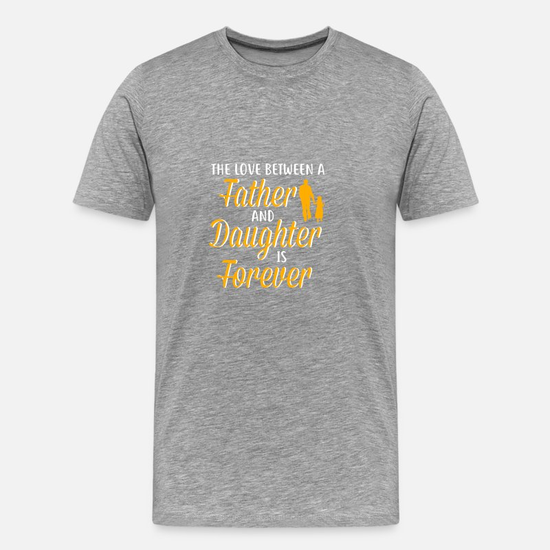 far og datter far datter gave Herre premium T shirt grå meleret