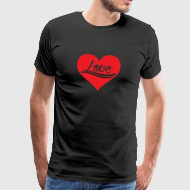 Love Heart Romantic Valentine's Day Holiday Couple - Men's Premium T-Shirt