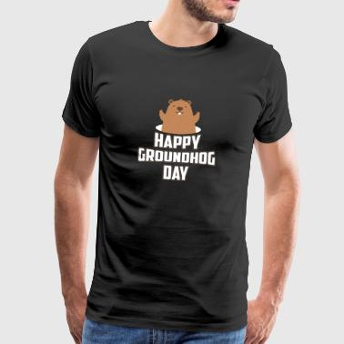 T-Shirt Happy Groundhog Day - Woodchuck 1886 - Maglietta Premium da uomo