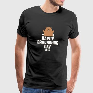 Happy Groundhog Day 2018 Woodchuck Since 1886 Cool - Camiseta premium hombre