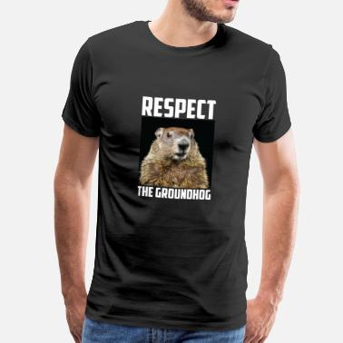 Marmotte Respecter la photo de marmotte de marmotte Photo Ground-Hog - T-shirt Premium Homme