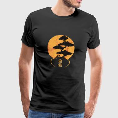 Chinese Bonsai nature chinese garden art elements - Men's Premium T-Shirt