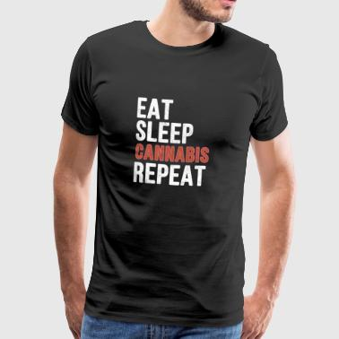 Eat Sleep Cannabis Repeat - Funny Gift - Men's Premium T-Shirt