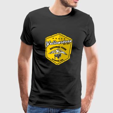 Yellowstone National Park 1872 Wyoming Yellow - Premium-T-shirt herr