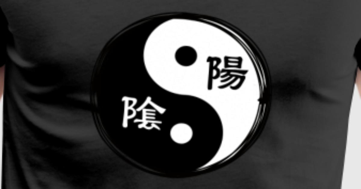 Yin Yang Chinese Calligraphy Chinese Symbol By Fresh Dressed Tees
