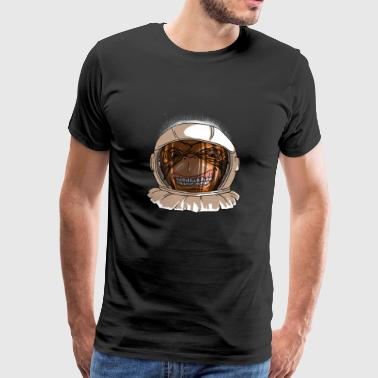 Astronaut Monkey Head Funny Smiling Space Monkey - Mannen Premium T-shirt
