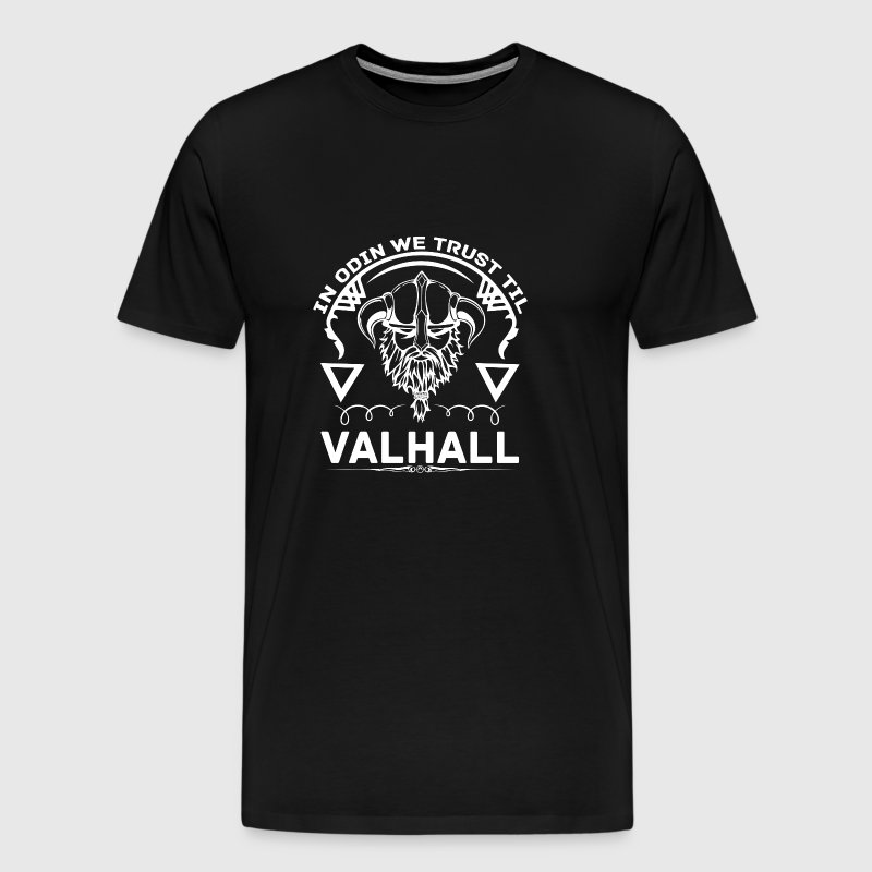 In Odin we trust til VALHALL - with LOKI and THOR - Men's Premium T-Shirt