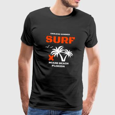 Endless summer Surf rot - Männer Premium T-Shirt
