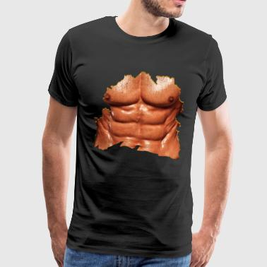 Men's breast Sixpack - Men's Premium T-Shirt
