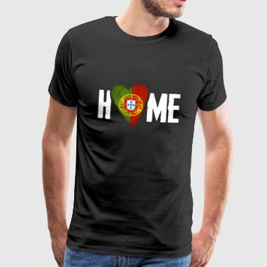 HOME PORTUGAL Homesick Portuguese Country Portuguesa - Men's Premium T-Shirt