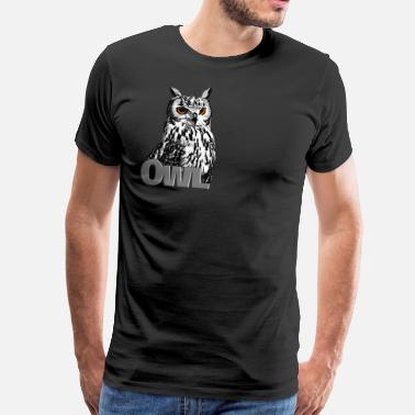 Night Owl Owl - Men's Premium T-Shirt