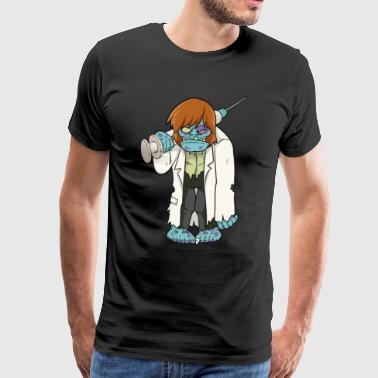 Doctor Zombie - Halloween Monster Syringe Doctor Death - Camiseta premium hombre
