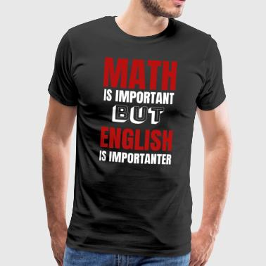 Teacher English Teacher Funny Humor Gifts - Koszulka męska Premium