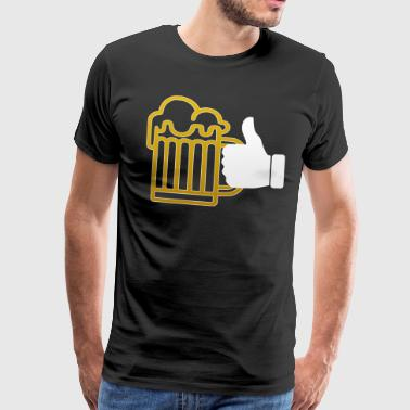 I LIKE CRAFT BEER PARTY TIME BIERFEST PRESENT TEE - Männer Premium T-Shirt