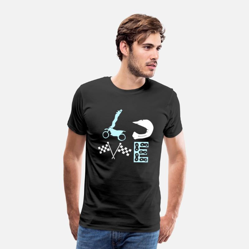 Dirt Bike Camisetas - Dirt Bike Love Enduro Off-Road Idea de regalo - Camiseta premium hombre negro
