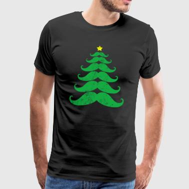 Moustache christmas tree - T-shirt Premium Homme