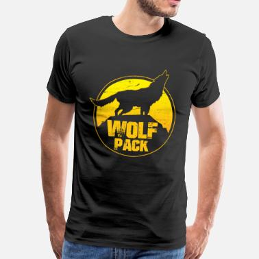 Wolfpack Wolfpack - wolf pack bachelor party team - Men's Premium T-Shirt