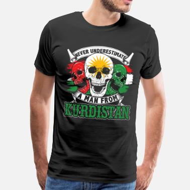 Syria Kurdistan independence Turkey state country nation - Men's Premium T-Shirt