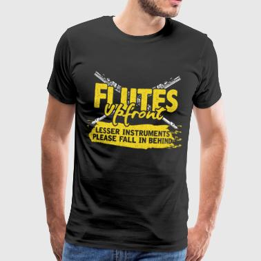 Flute flute woodwind gift major - Men's Premium T-Shirt