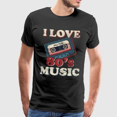 Music cassette gift idea musical instrument 80s - Men's Premium T-Shirt
