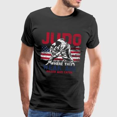 Judo Flag USA Svakt Fighter America - Premium T-skjorte for menn