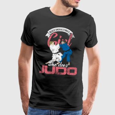 Judo girl woman fighter athlete Japan - Men's Premium T-Shirt