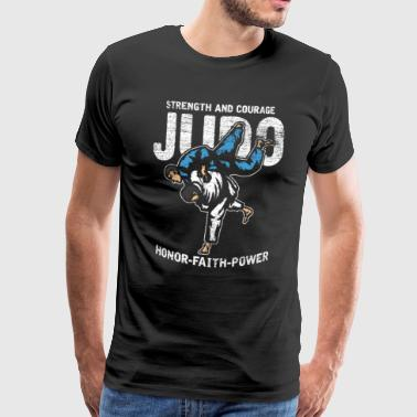 Judo Japan Jiu Jitsu sports belt Asia fight - Men's Premium T-Shirt