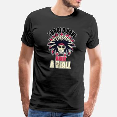 Indian Apache Indian Indians Native American Apache Native - Men's Premium T-Shirt
