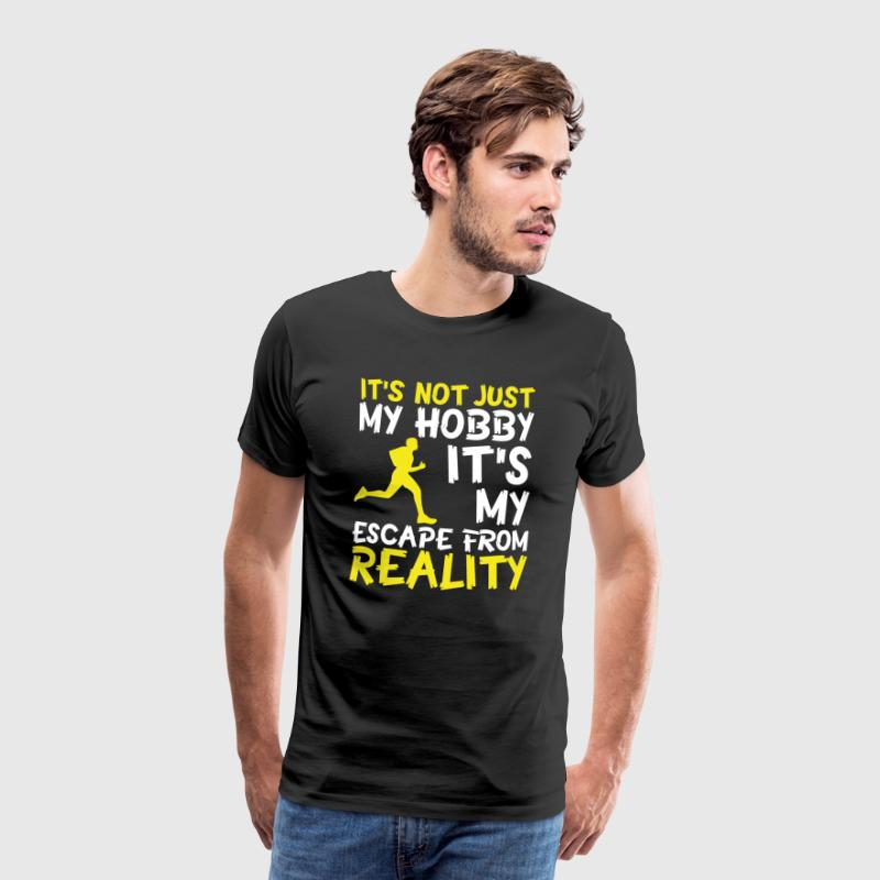 Jogging is not just my hobby! - Men's Premium T-Shirt