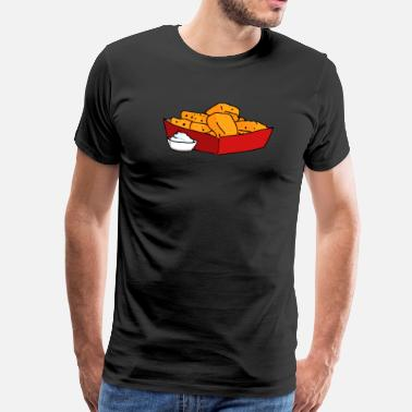 Nuggets Poulet Nuggets Poulet Nuggs Fast Food Hunger - T-shirt Premium Homme