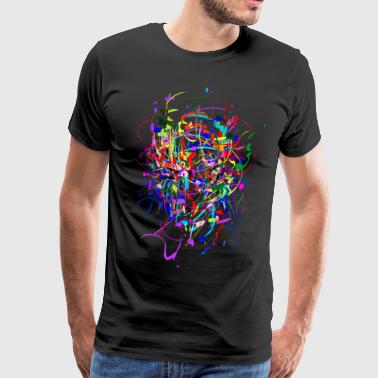 Kleur - Bom / Abstract / Gezicht - Mannen Premium T-shirt