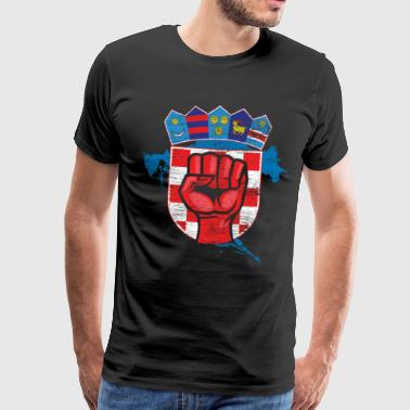 Croatia Croatia fist - Men's Premium T-Shirt