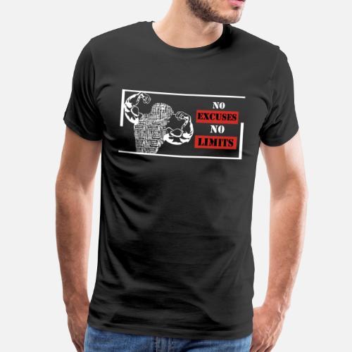 Excuses Shirt Aucune Homme T No Premium Spreadshirt Limite PvqndwPp