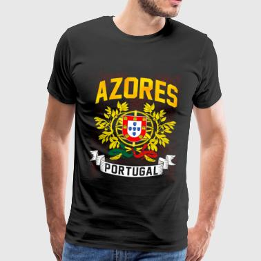 Portugal flag gift Lisbon holiday Azores - Men's Premium T-Shirt