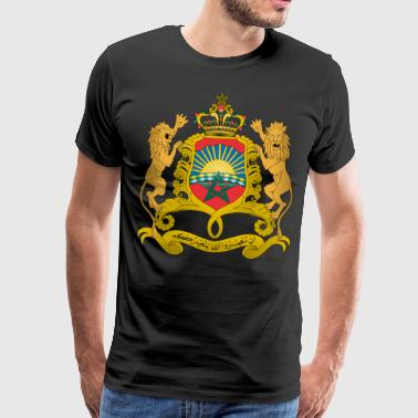 Marokko Coat of Arms - Herre premium T-shirt